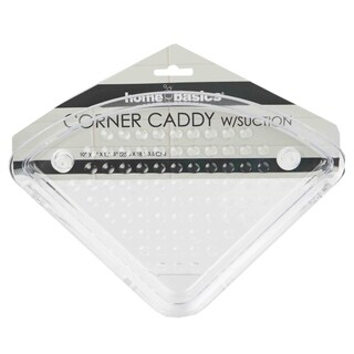 Home Basics Clear Corner Caddy and Suction Cups