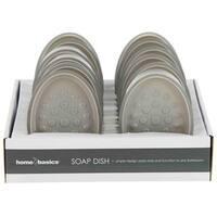 Home Basics Grey Plastic Soap Dish