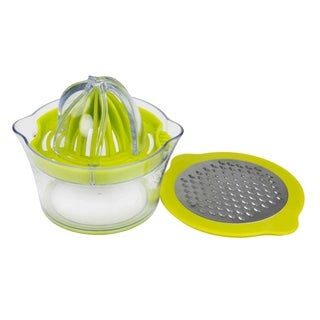 Home Basics Clear with Green 3-in-1 Cheese Grater with Juicer