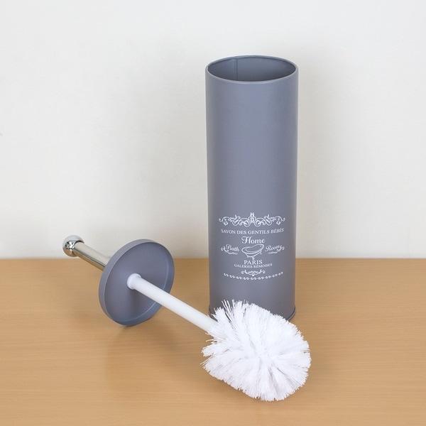 Home Basics Paris MATT Toilet Brush Holder Bathroom Germ-free Toilet Brush New