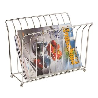 Home Basics Chrome Free-Standing Magazine Rack