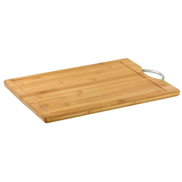 3985165a71f Shop Home Basics Natural Bamboo Handle Cutting Board - Free Shipping On  Orders Over $45 - Overstock - 22580211