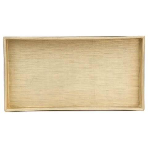 Home Basics Gold Plastic Vanity Tray