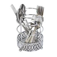 Home Basics Infinity Collection Chrome Cutlery Holder