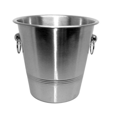 Home Basics Stainless Steel Ice Bucket