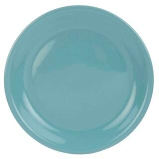 Home Basics Turquoise Ceramic Dinner Plate
