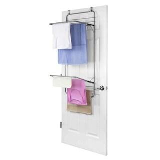 Sunbeam Grey Steel Over the Door Towel Dryer Rack