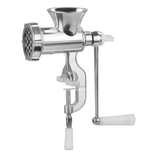 Home Basics Silver Aluminum Manual Meat Grinder