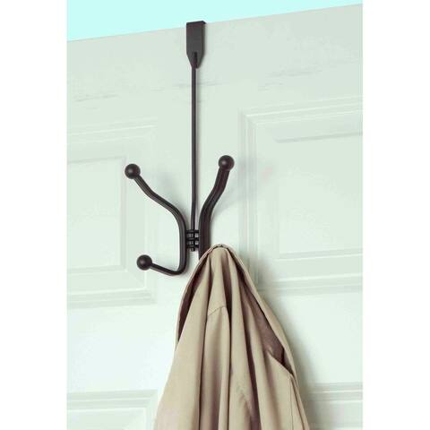 Home Basics Bronze Over the Door 2-hook Hanging Rack