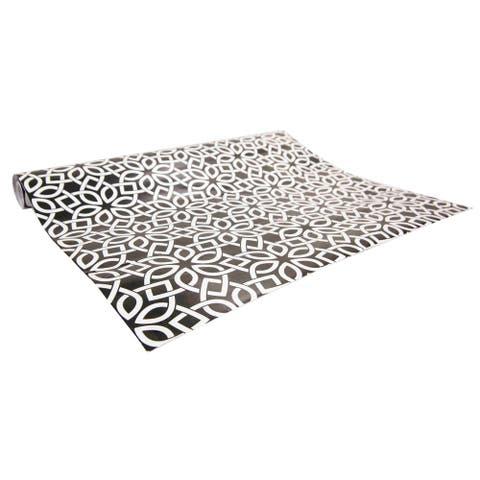 Home Basics Adhesive Blossom Shelf Liner (Pack of 2)
