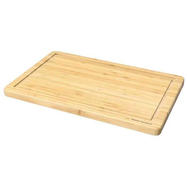 Home Basics Natural Bamboo 10-inch Cutting Board with Juice Groove