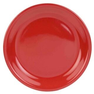 Home Basics Red Ceramic Dinner Plate