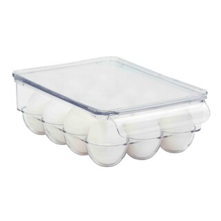 Home Basics Clear Plastic Fridge Bin 21-Egg Holder