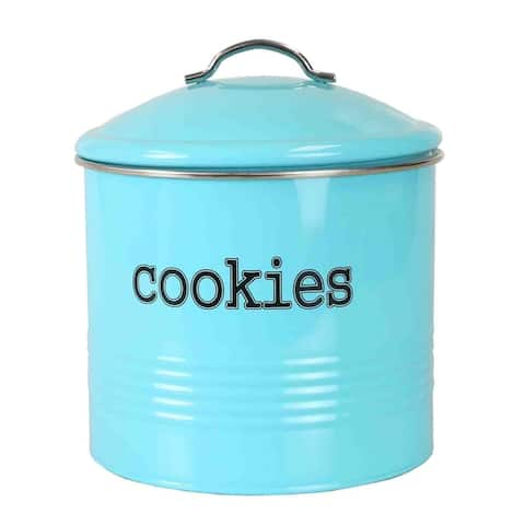 Home Basics Tin Cookie Jar