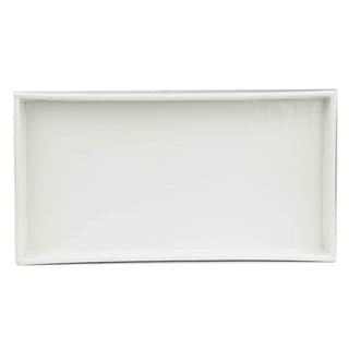 Home Basics White Plastic Vanity Tray