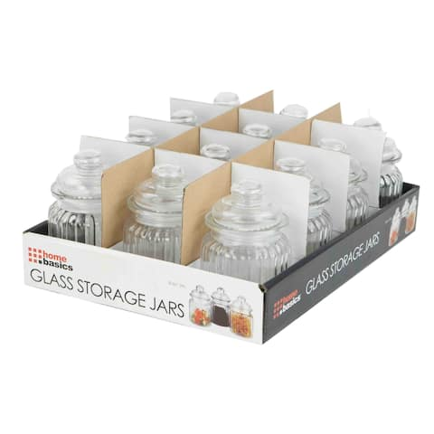 Home Basics Clear Mini Glass Jar