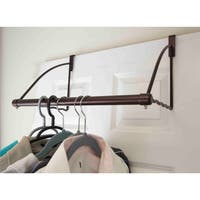 Home Basics Bronze Over The Door Closet Valet