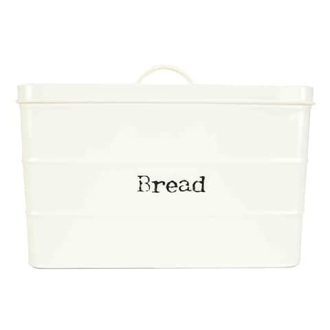 Home Basics Ivory Tin Bread Box