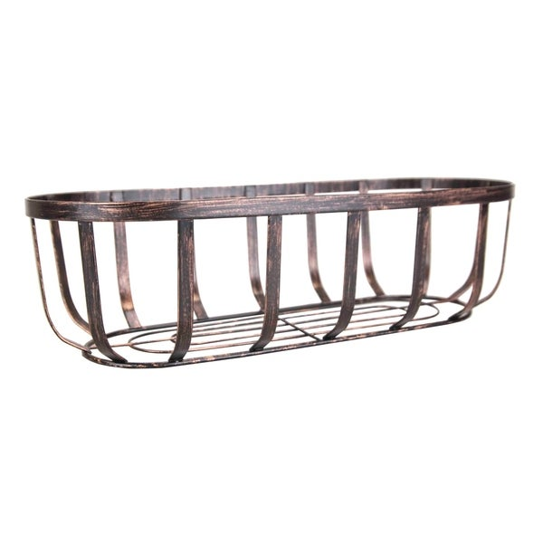 Home Basics Oil-Rubbed Bronze Rustic Oval Bread Basket. Opens flyout.