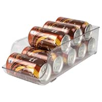Home Basics Clear Large Plastic Soda Can Holder