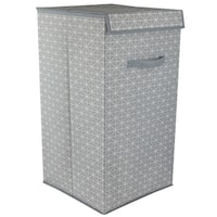 Home Basics Diamond Collection Grey Laundry Hamper