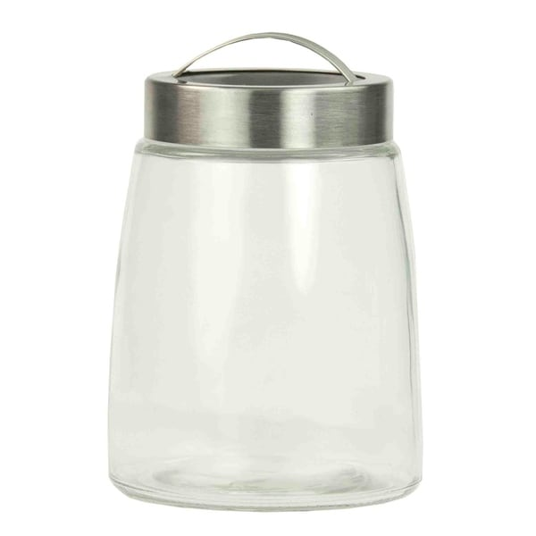 Home Basics Clear 44 oz. Glass Air-tight Lid Jar