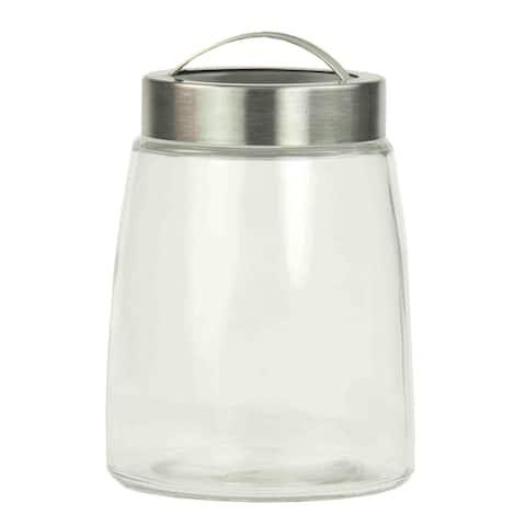 Home Basics Clear 44 oz. Glass Air-tight Lid Jar