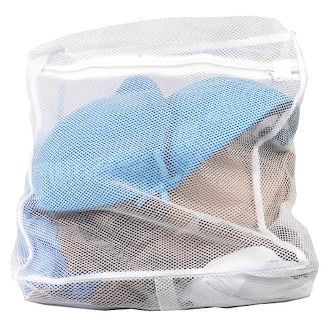 Sunbeam White Mesh Intimates Wash Bag