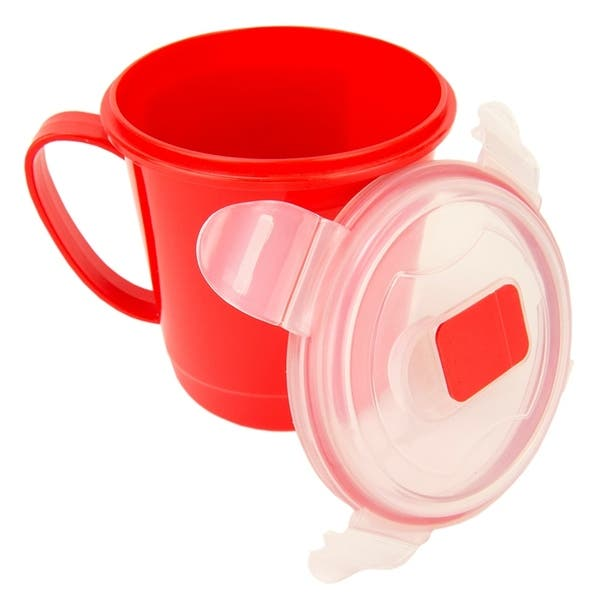Clear 24oz Plastic Microwaveable Soup