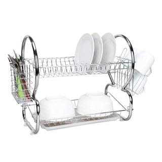 Home Basics Chrome 2-tier Dish Drainer