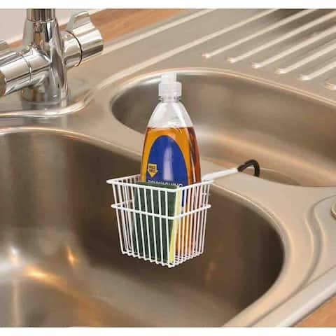 Home Basics White Sink Basket