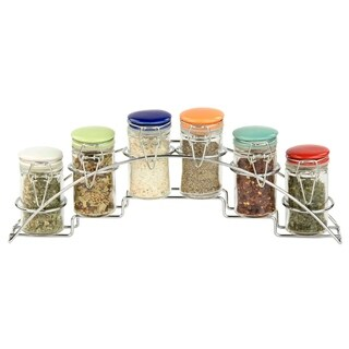 Home Basics 6-piece Spice Set with Rack