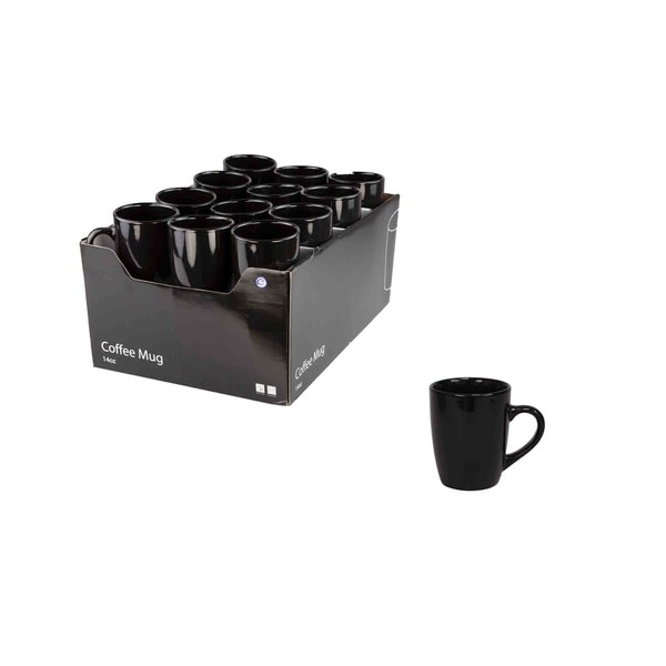 bba53a7817 Shop Home Basics Black Ceramic Mug - Free Shipping On Orders Over $45 -  Overstock - 22580485
