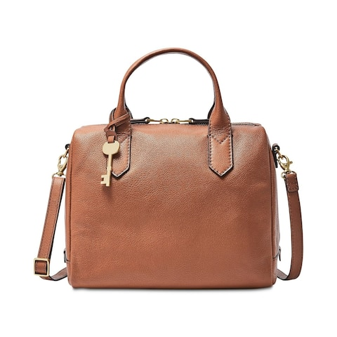 Fossil Fiona Small Leather Satchel Brown