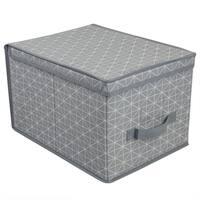 Home Basics Diamond Collection Grey Non-Woven Storage Box