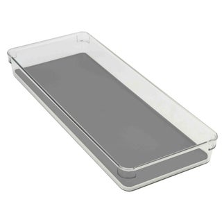 Home Basics Clear 15-inch Plastic Drawer Organizer