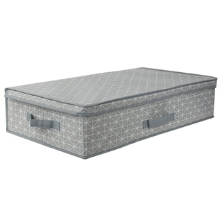 Home Basics Diamond Collection Grey Under the Bed Storage Box