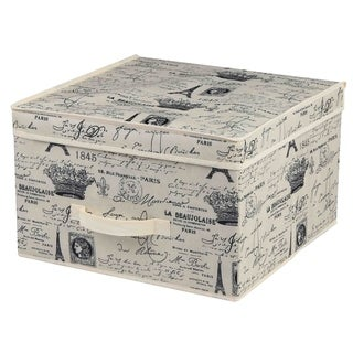 Home Basics Paris Collection Natural Non-Woven Storage Box