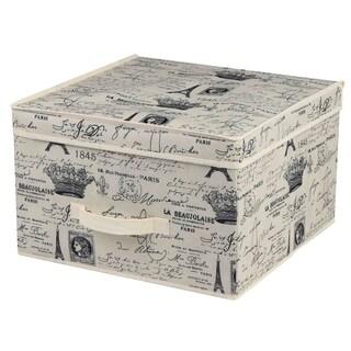 Home Basics Paris Collection Natural Non-Woven Storage Box
