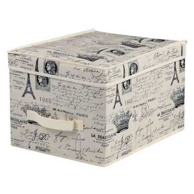 Home Basics Paris Collection Natural Large Non-Woven Storage Box