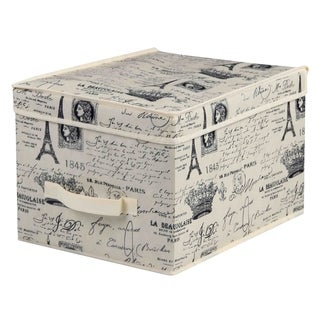Home Basics Paris Collection Natural Large Non-Woven Storage Box
