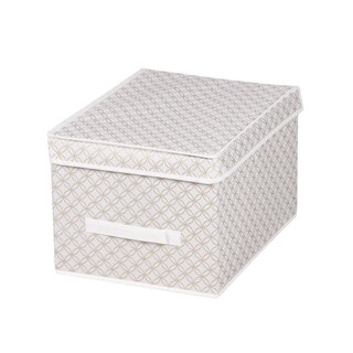 Home Basics Blossom Collection Gold Large Storage Box