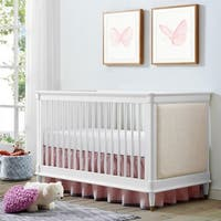 Avenue Greene Isadore 3-in-1 Upholstered White Convertible Crib