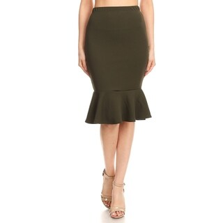Women's Casual Ruffled Trim Mermaid Skirt (More options available)