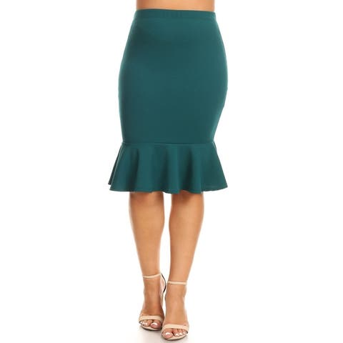 Women's Casual Ruffled Trim Mermaid Skirt