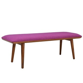 Porthos Home Matilda Upholstered Bench (Purple)