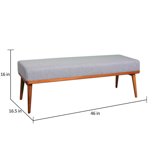 Carson Carrington Lidkoping Mid-century Side Bench