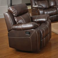 Copper Grove Glentress Chestnut Glider Recliner with Pillow Arms