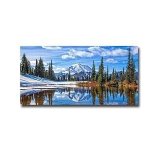 Michael Broom 'Mt. Rainier Vista' Gallery Wrapped Canvas Giclee Art