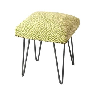 Butler Channahon Solid Wood Upholstered Stool - Green